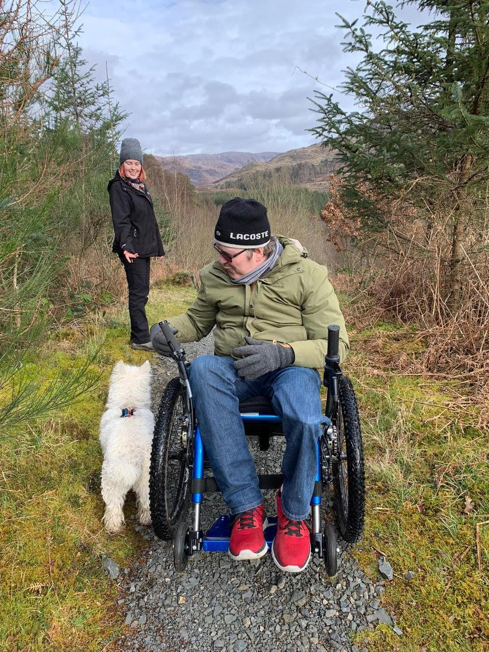 Mountain Trike eKit all terrain wheelchair